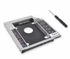 Khay lắp ổ cứng SSD cho laptop qua khay CD (Caddy bay) Mỏng