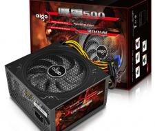 Nguồn máy tính Aigo 500W công suất thực Có nguồn phụ 8Pin