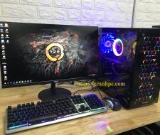 Bộ máy tính chơi PUBG, Màn hình 24 inch Full viền (New)