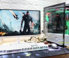 Bộ máy tính CPU I3-9100F,Card GTX1650 4GD5, Màn hình cong Samsung 24inch