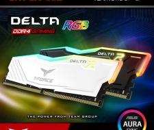 Ram TEAMGROUP T-Force Delta RGB 8G 2666 Có tản nhiệt LED Mới