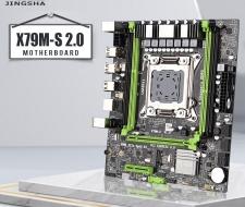 Mainboard Jingsha X79 X79M-S 2.0 LGA2011 M ATX USB2.0 PCI-E NVMe M.2 SSD